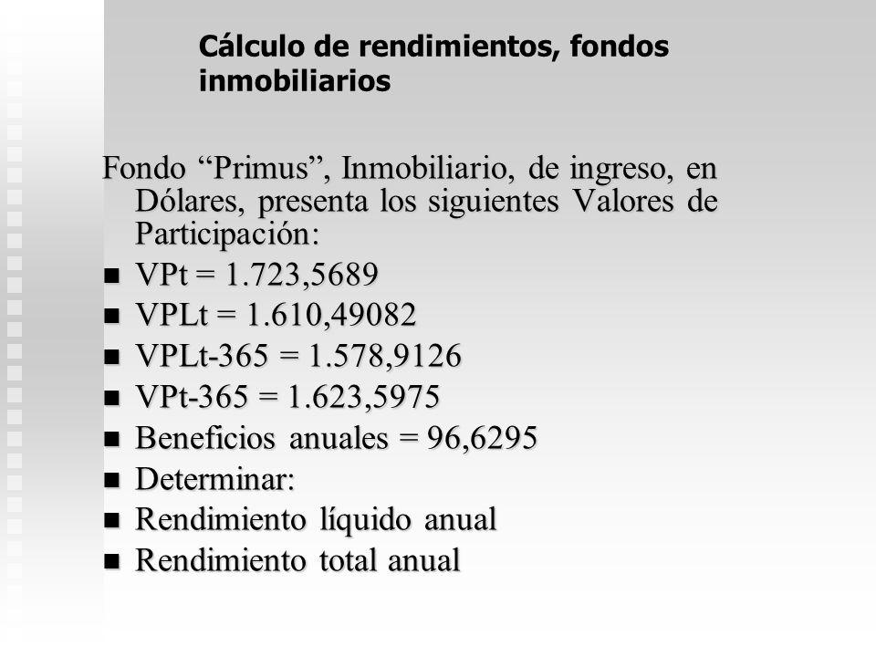 31 Rendimiento mercado secundario 7. Elisa Inquieta invirtió su divorcio comprando en la BNV (mercado secundario) 10.000 participaciones del Fondo Uni