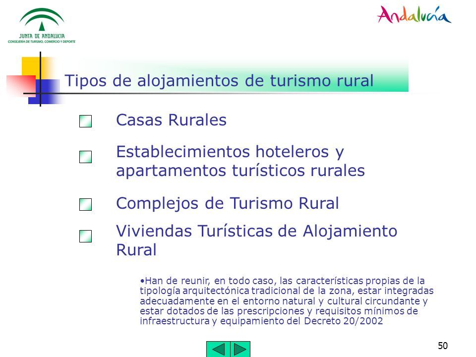 50 Tipos de alojamientos de turismo rural Casas Rurales Establecimientos hoteleros y apartamentos turísticos rurales Complejos de Turismo Rural Vivien