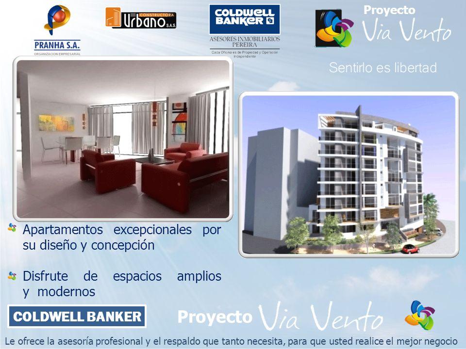 Le ofrece la asesoría profesional y el respaldo que tanto necesita, para que usted realice el mejor negocio COLDWELL BANKER Proyecto Apartamentos exce