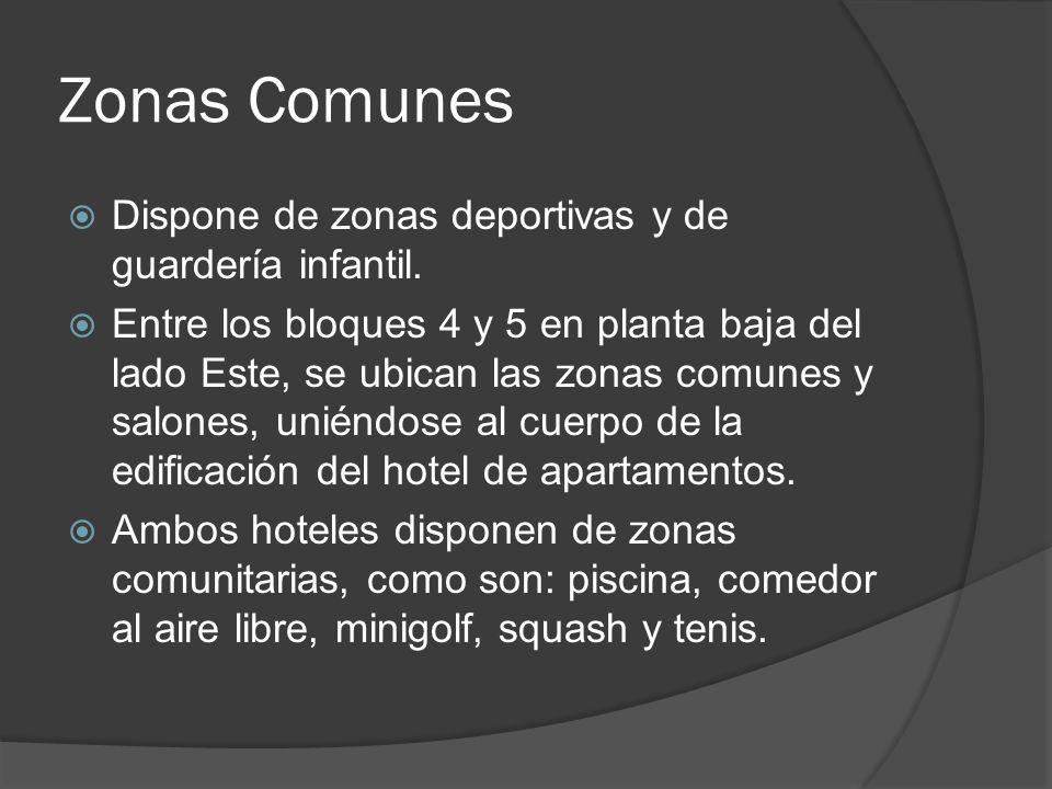 Zonas Comunes Dispone de zonas deportivas y de guardería infantil.