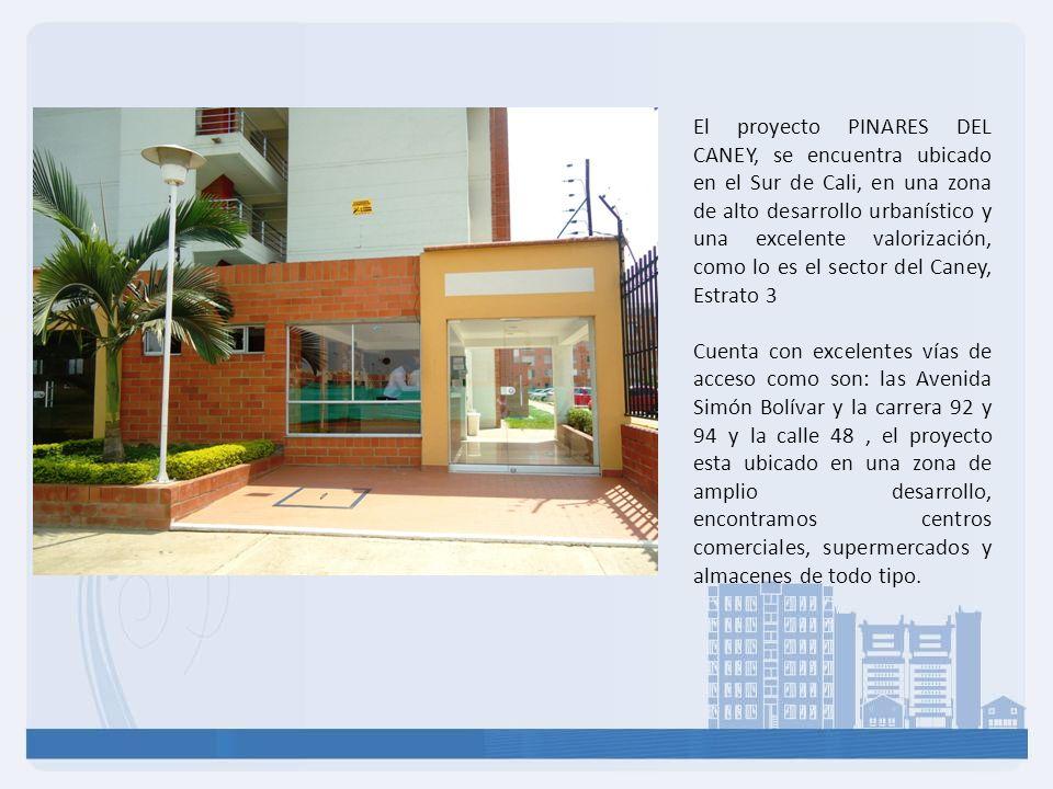 El proyecto PINARES DEL CANEY, se encuentra ubicado en el Sur de Cali, en una zona de alto desarrollo urbanístico y una excelente valorización, como l