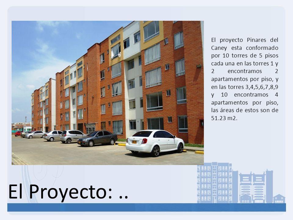 El Proyecto:.. El proyecto Pinares del Caney esta conformado por 10 torres de 5 pisos cada una en las torres 1 y 2 encontramos 2 apartamentos por piso
