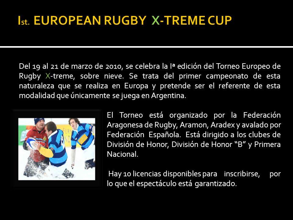 Del 19 al 21 de marzo de 2010, se celebra la Iª edición del Torneo Europeo de Rugby X-treme, sobre nieve.