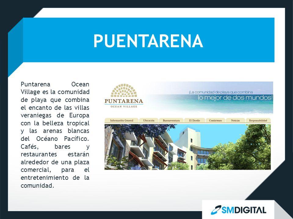 PUENTARENA Puntarena Ocean Village es la comunidad de playa que combina el encanto de las villas veraniegas de Europa con la belleza tropical y las ar