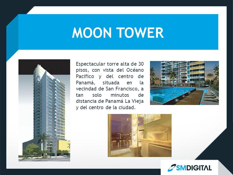 MOON TOWER Espectacular torre alta de 30 pisos, con vista del Océano Pacífico y del centro de Panamá, situada en la vecindad de San Francisco, a tan s