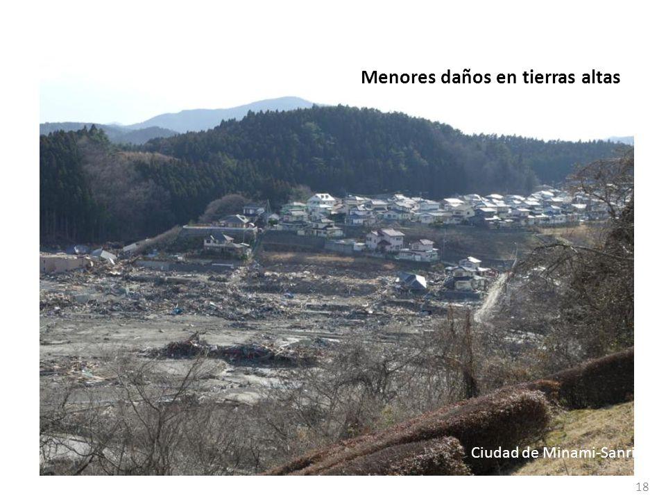 Menores daños en tierras altas 18 Ciudad de Minami-Sanriku