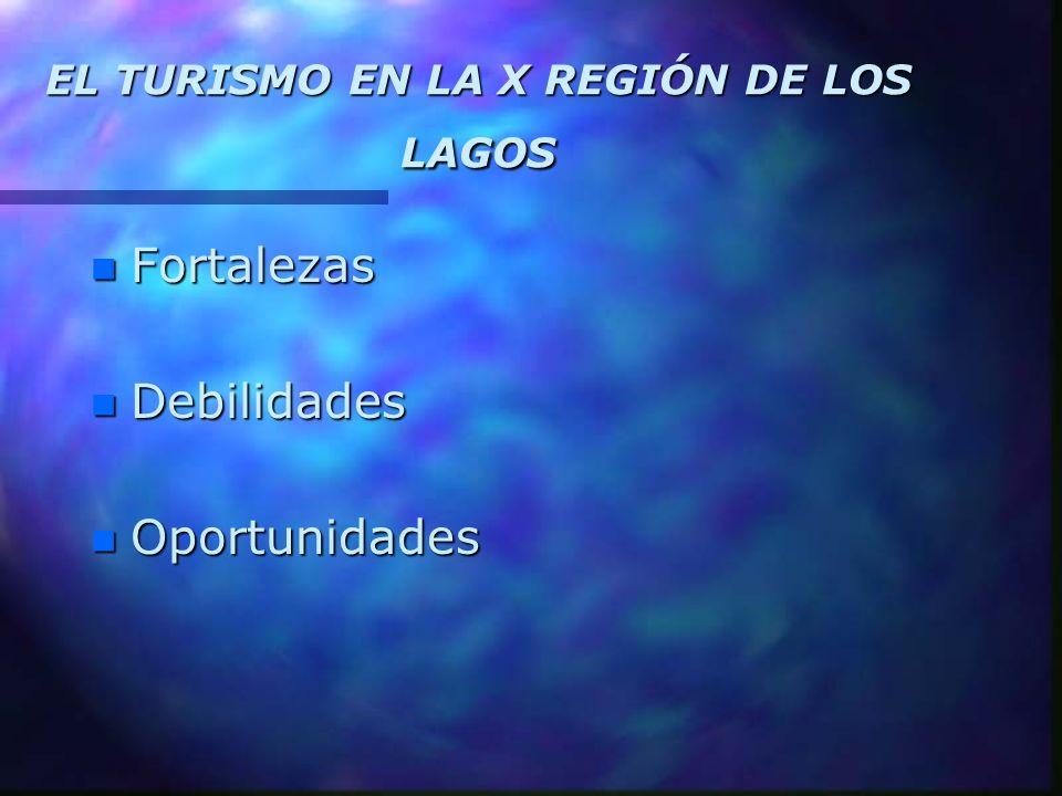 EL TURISMO EN LA X REGIÓN DE LOS LAGOS n Fortalezas n Debilidades n Oportunidades