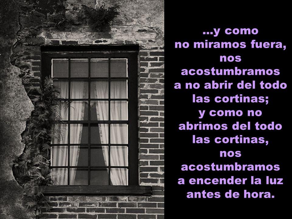 Nos acostumbramos a vivir en apartamentos y a no tener ninguna otra vista que no sea las ventanas de alrededor; y como no tenemos vistas, nos acostumb