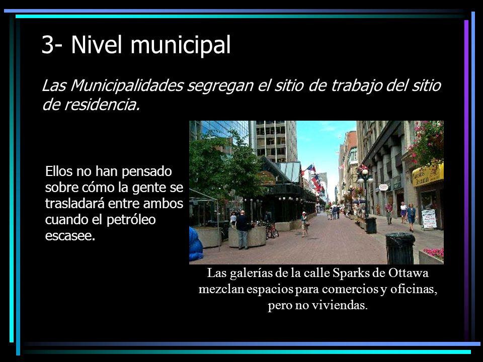 3- Nivel municipal Las Municipalidades segregan el sitio de trabajo del sitio de residencia.