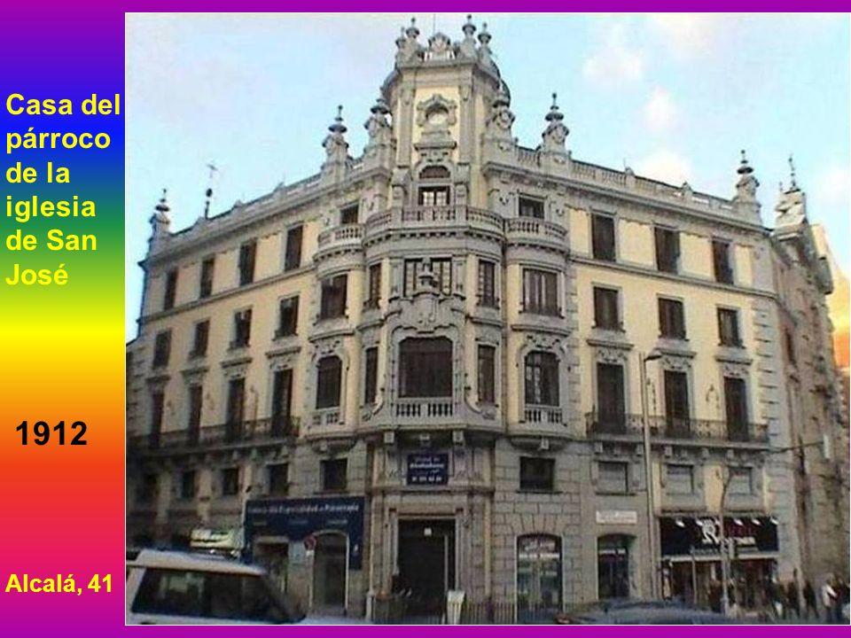 Casa del párroco de la iglesia de San José 1912 Alcalá, 41
