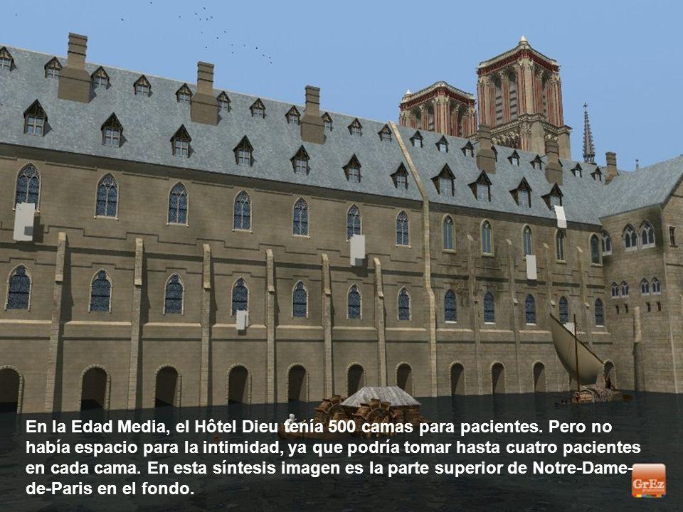 El Hôtel Dieu fue el primer hospital de París. Situado en la Ile de la Cité, que fue fundada en 651.