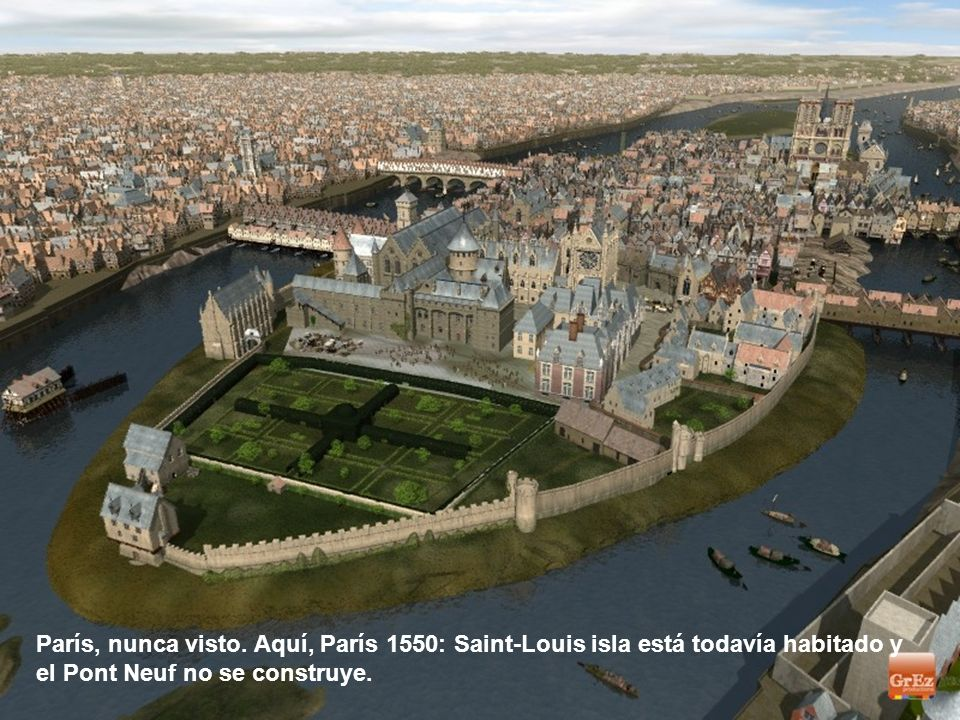El Louvre, el Hotel de Villa y Notre Dame tenían caras diferentes en la Edad Media. Aquí hay algunos gráficos, firmado producciones Grez, que puede de