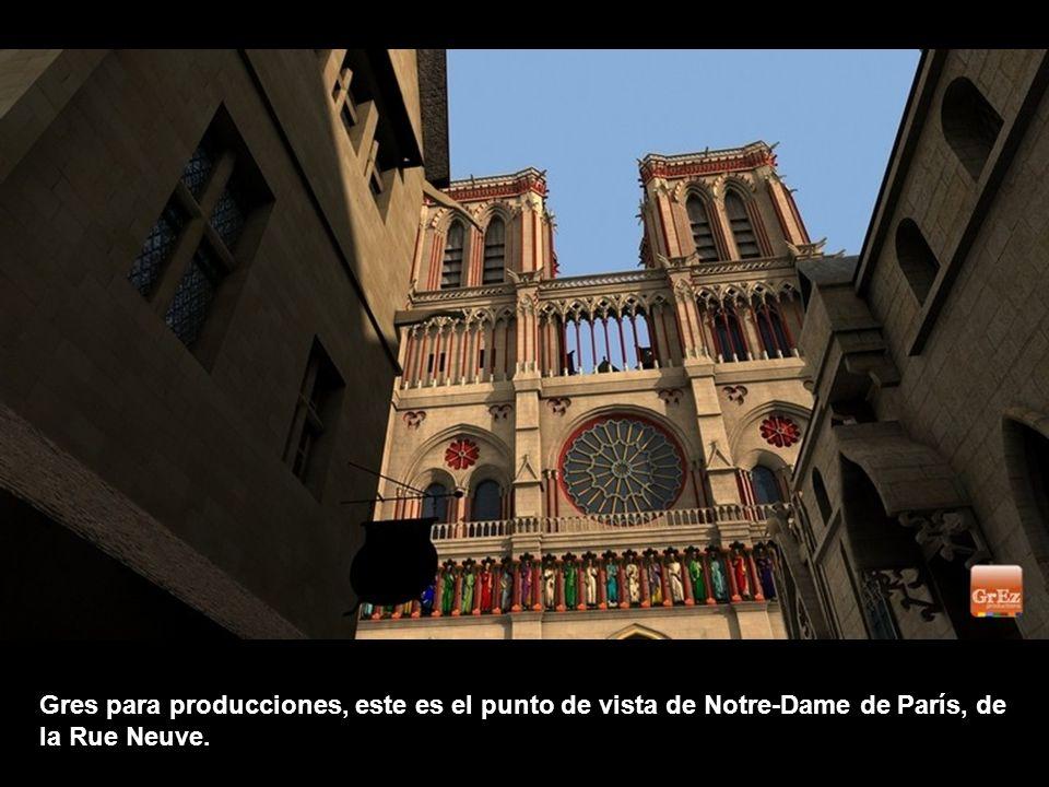 En esta vista de pájaro, es posible descubrir el Paris de Nôtre-Dame de París, en la Edad Media. Fue anfitrión de festivales y mercados.