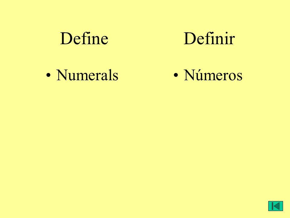 NumeralsNúmeros