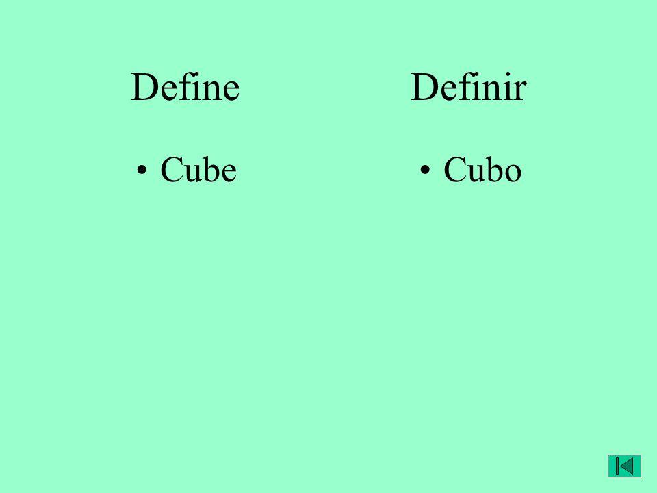 Define Definir CubeCubo