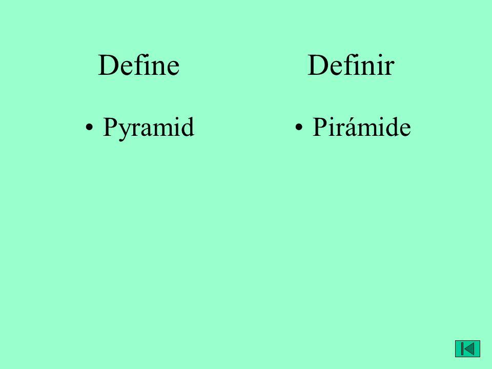 Define Definir PyramidPirámide