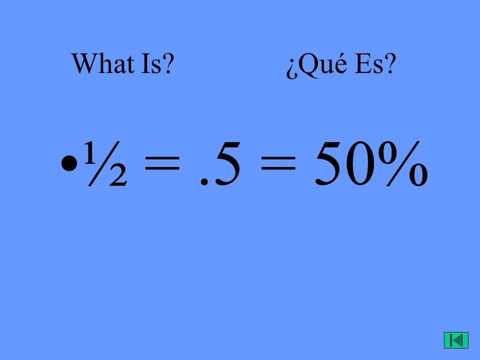 What Is.¿Qué Es. Any number that can be evenly divided by 2.