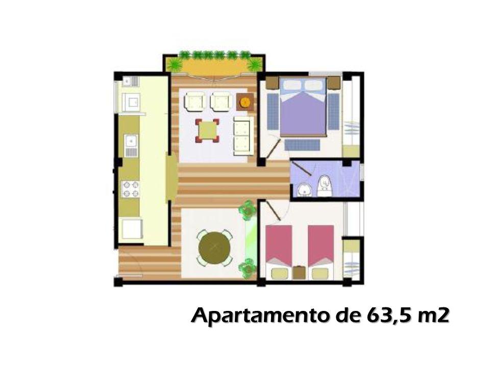 Apartamento de 63,5 m2