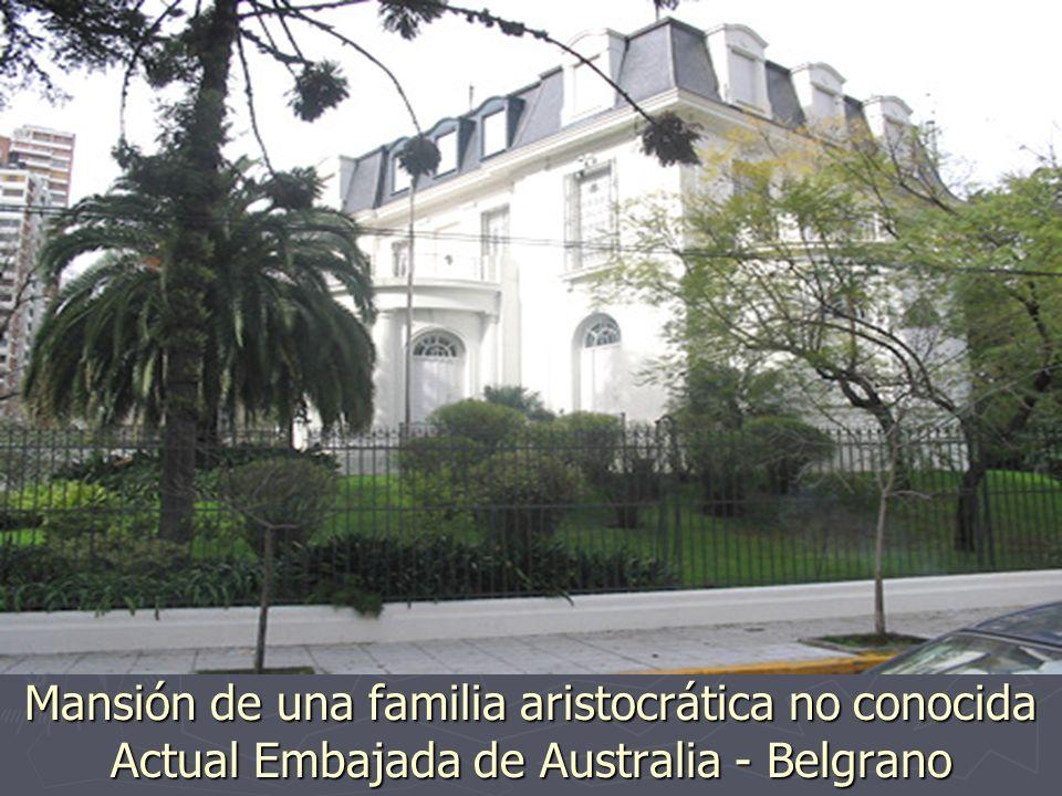 Palacio de la familia Fernández de Anchorena, luego de la Marquesa Pontificia Harilaos de Olmos - Actual Nunciatura Apostólica (embajada de la Santa S