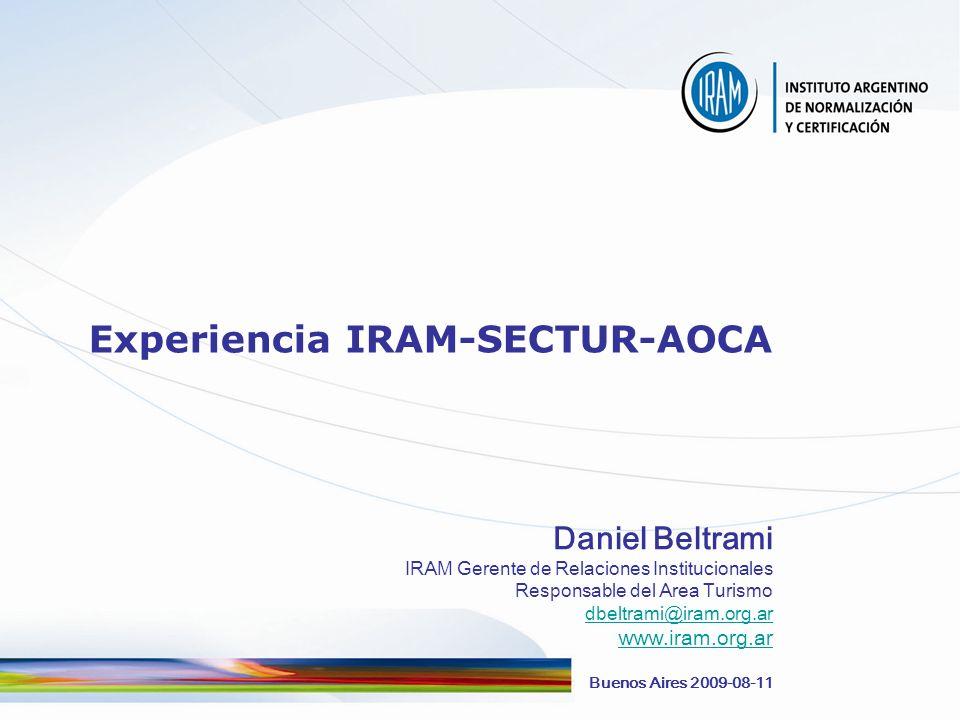 www.iram.org.ar DANIEL BELTRAMI-2009