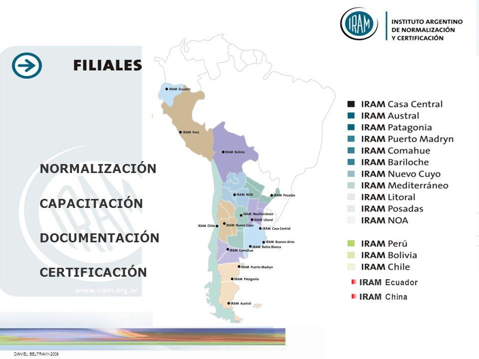 DANIEL BELTRAMI-2009 Es una asociación civil sin fines de lucro Desde 1935 Es una ONG de utilidad pública IRAM Instituto Argentino de Normalización y