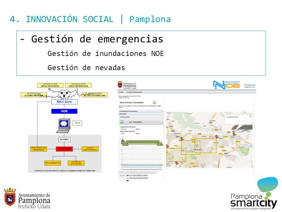 4. INNOVACIÓN SOCIAL | Pamplona - Gestión de emergencias Gestión de inundaciones NOE Gestión de nevadas
