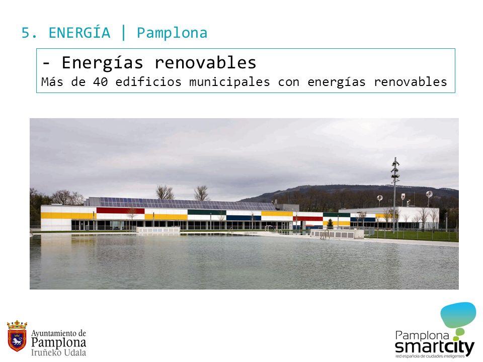 5. ENERGÍA | Pamplona - Energías renovables Más de 40 edificios municipales con energías renovables