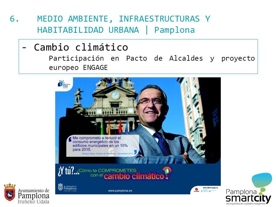 6. MEDIO AMBIENTE, INFRAESTRUCTURAS Y HABITABILIDAD URBANA | Pamplona - Cambio climático Participación en Pacto de Alcaldes y proyecto europeo ENGAGE