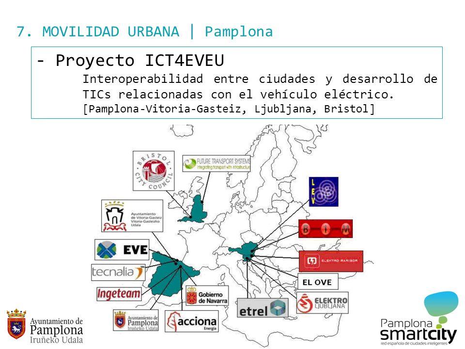 7. MOVILIDAD URBANA | Pamplona - Proyecto ICT4EVEU Interoperabilidad entre ciudades y desarrollo de TICs relacionadas con el vehículo eléctrico. [Pamp