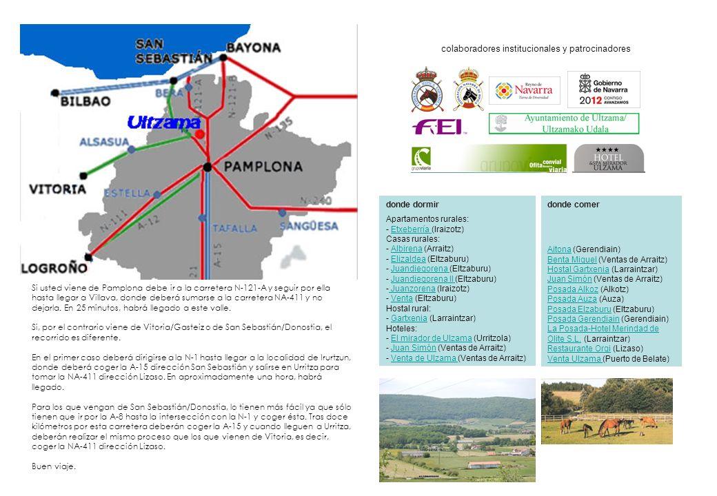 Si usted viene de Pamplona debe ir a la carretera N-121-A y seguir por ella hasta llegar a Villava, donde deberá sumarse a la carretera NA-411 y no dejarla.
