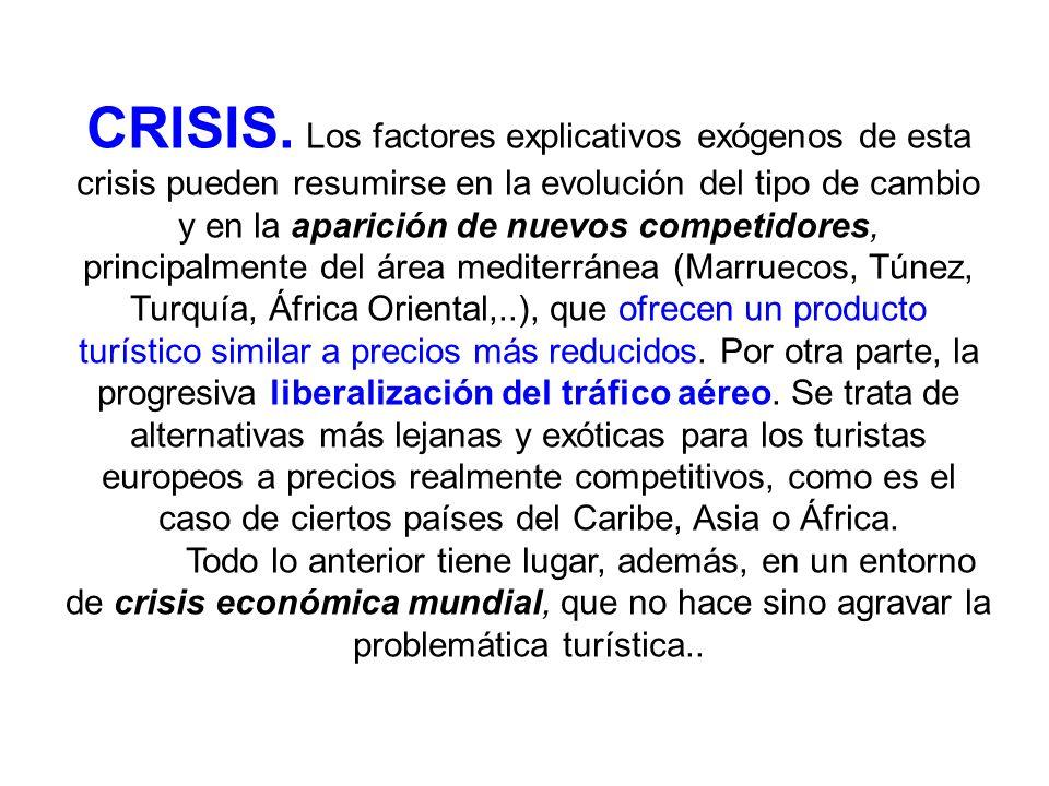 CRISIS. Los factores explicativos exógenos de esta crisis pueden resumirse en la evolución del tipo de cambio y en la aparición de nuevos competidores