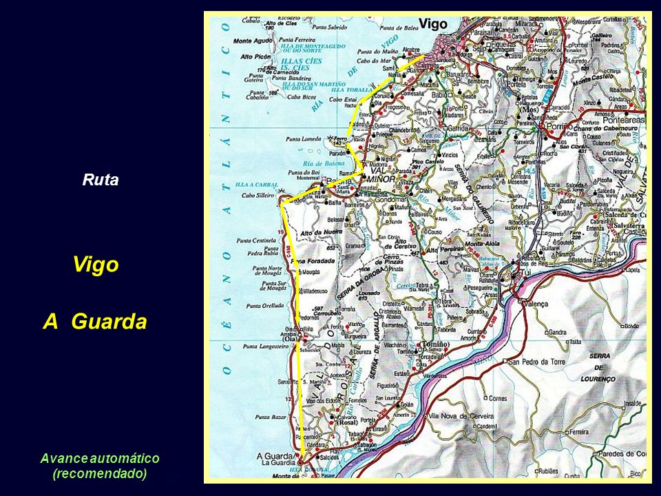 Ruta Vigo A Guarda Avance automático (recomendado).