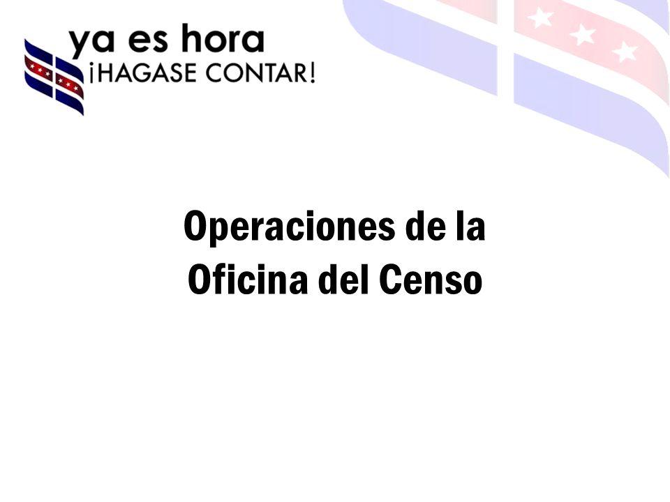 Operaciones de la Oficina del Censo