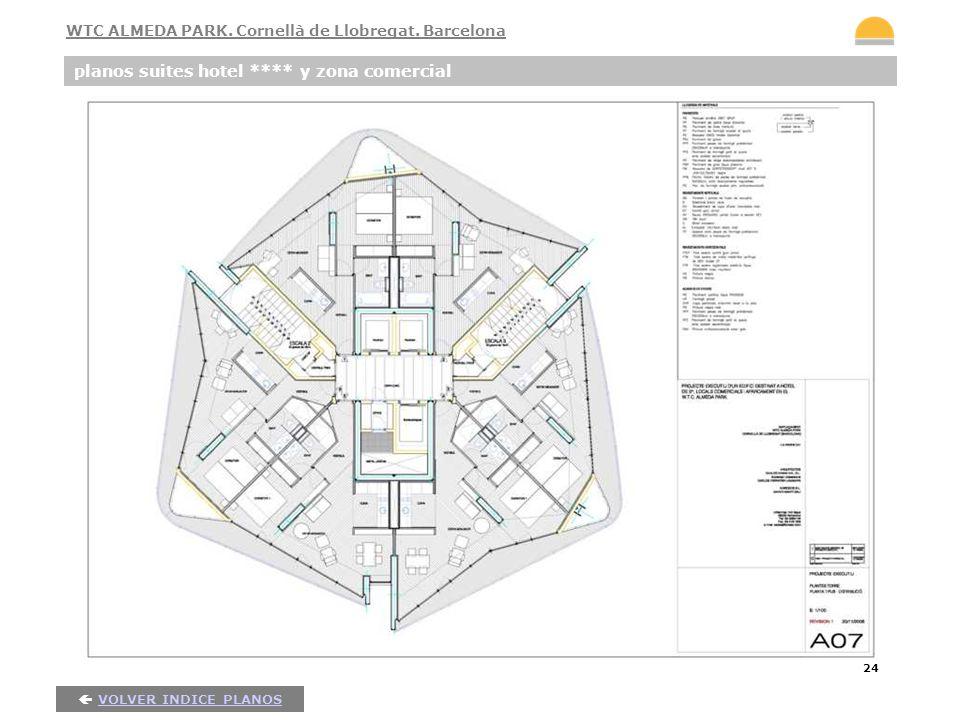 24 planos suites hotel **** y zona comercial VOLVER INDICE PLANOS WTC ALMEDA PARK. Cornellà de Llobregat. Barcelona