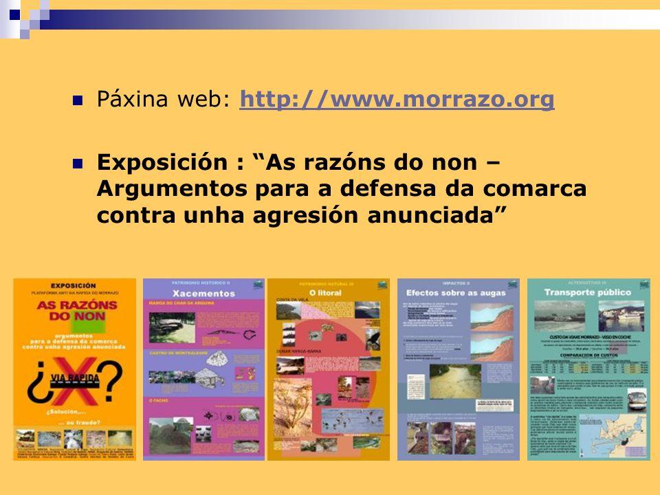 PROPOSTA ALTERNATIVA PARA A MELLORA DAS COMUNICACIÓNS DO MORRAZO: 1.- Circunvalacións dos núcleos urbanos de Moaña e Cangas, contempladas nos respectivos Planos Urbanos.