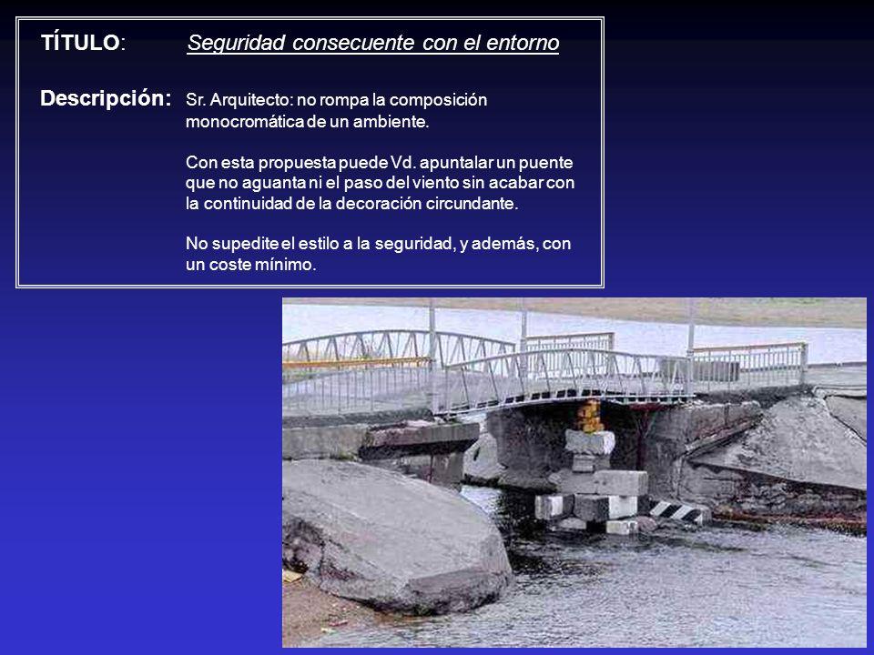 TÍTULO: Seguridad consecuente con el entorno Descripción: Sr. Arquitecto: no rompa la composición monocromática de un ambiente. Con esta propuesta pue
