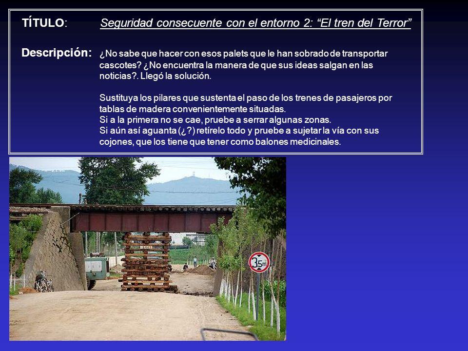 TÍTULO: Seguridad consecuente con el entorno 2: El tren del Terror Descripción: ¿No sabe que hacer con esos palets que le han sobrado de transportar c