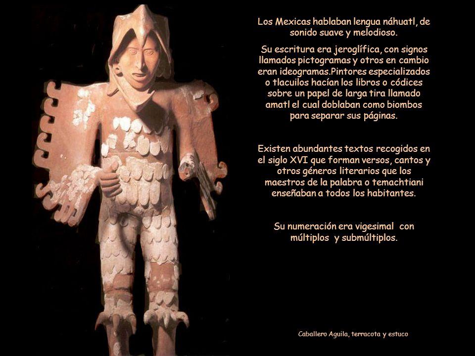 El Calmécac proporcionaba estudios intensos y amplios. En el Tepochcalli desarrollaban sus habilidades. Las niñas aprendían la danza y el canto para c