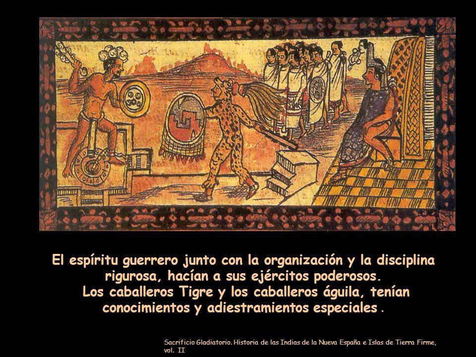 Coyolxauhqui Diosa de la Luna ( muerta y desmembrada por Huitzilopochtli). Los aztecas, aislados como estaban, con poco terreno donde sembrar, se dier