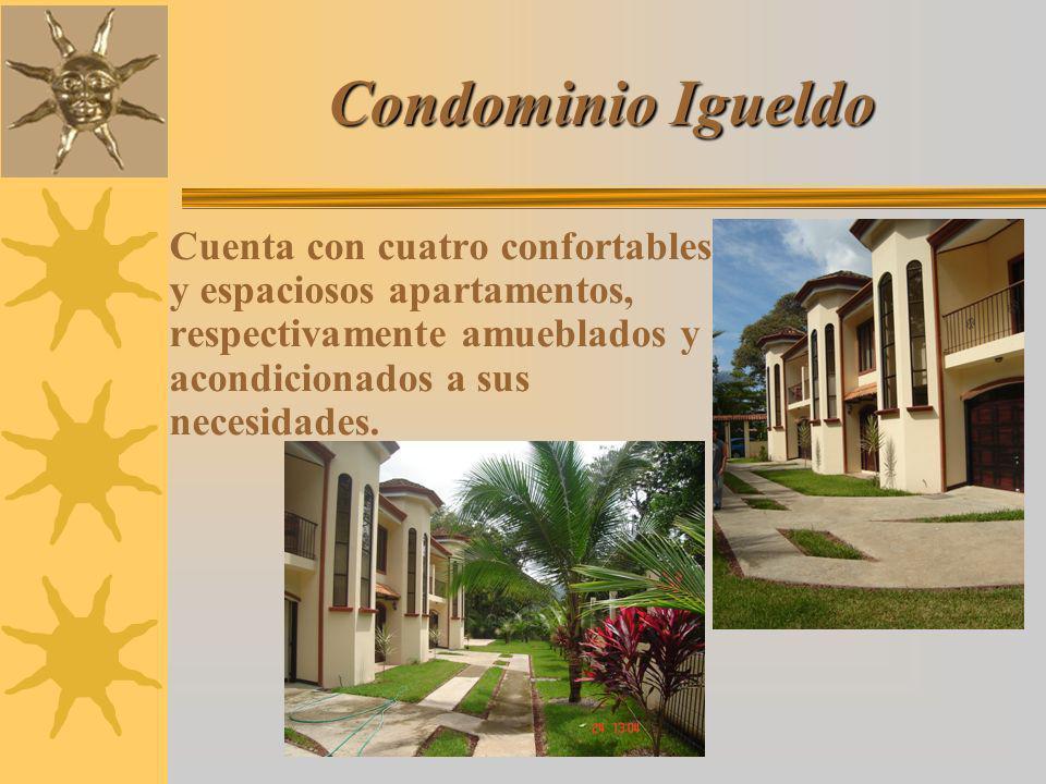 Condominio Igueldo Cuenta con cuatro confortables y espaciosos apartamentos, respectivamente amueblados y acondicionados a sus necesidades.