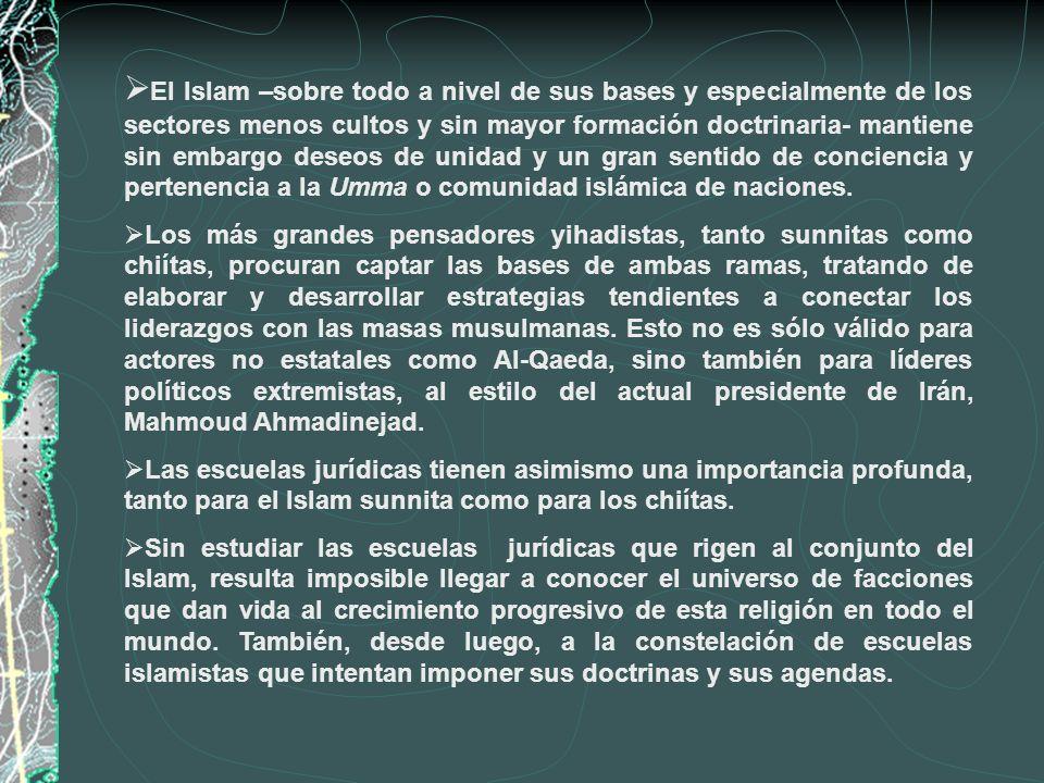 El Islam –sobre todo a nivel de sus bases y especialmente de los sectores menos cultos y sin mayor formación doctrinaria- mantiene sin embargo deseos