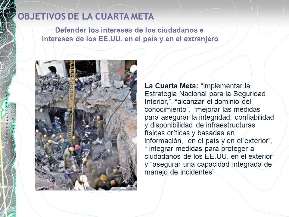 La Cuarta Meta: implementar la Estrategia Nacional para la Seguridad Interior,, alcanzar el dominio del conocimiento, mejorar las medidas para asegura