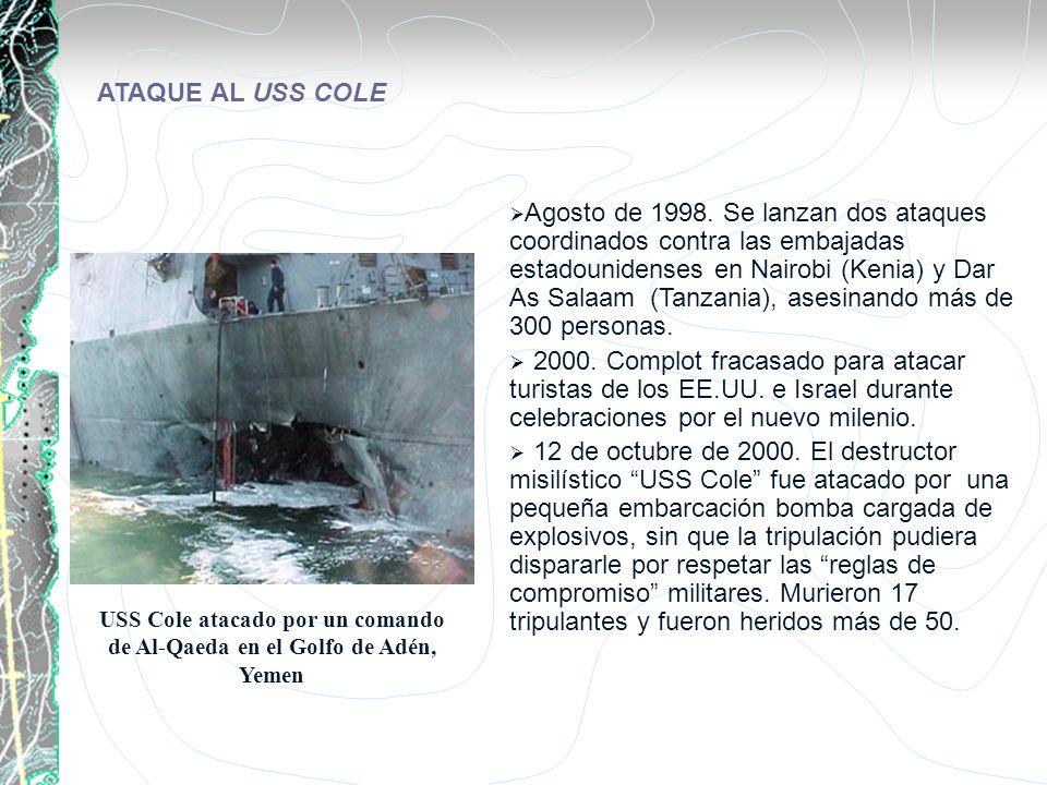 Agosto de 1998. Se lanzan dos ataques coordinados contra las embajadas estadounidenses en Nairobi (Kenia) y Dar As Salaam (Tanzania), asesinando más d