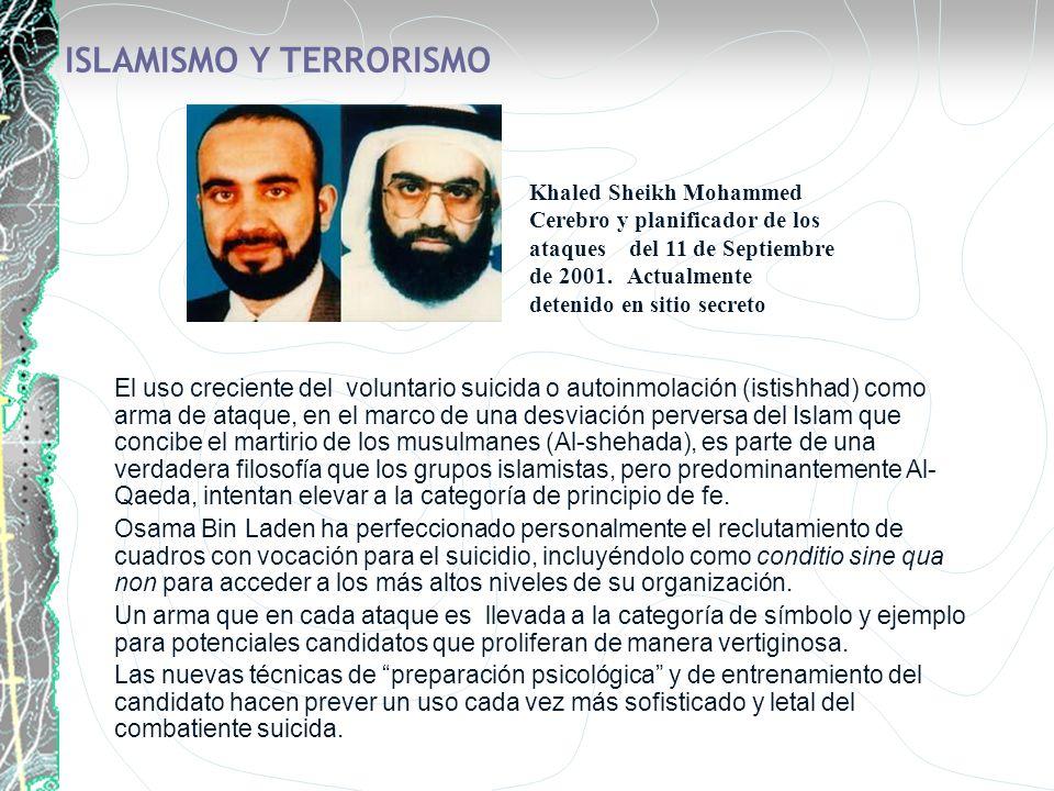 ISLAMISMO Y TERRORISMO El uso creciente del voluntario suicida o autoinmolación (istishhad) como arma de ataque, en el marco de una desviación pervers