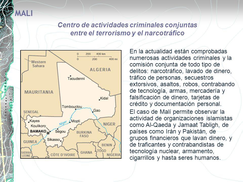 En la actualidad están comprobadas numerosas actividades criminales y la comisión conjunta de todo tipo de delitos: narcotráfico, lavado de dinero, tr