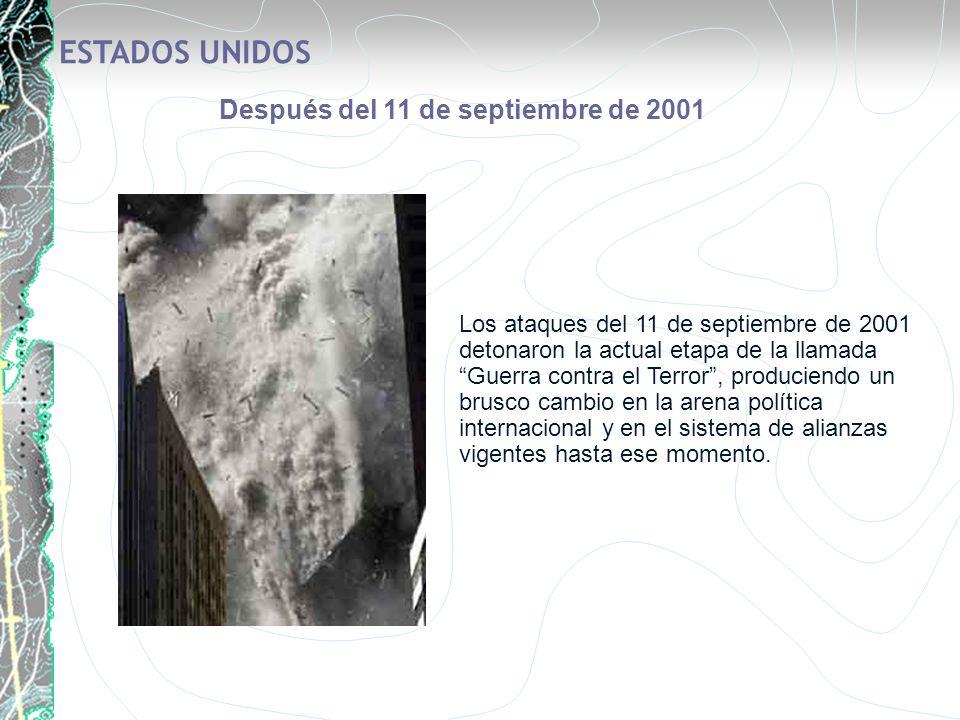 Los ataques del 11 de septiembre de 2001 detonaron la actual etapa de la llamada Guerra contra el Terror, produciendo un brusco cambio en la arena pol