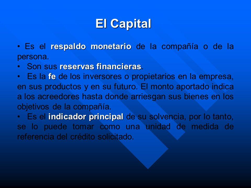 respaldo monetario Es el respaldo monetario de la compañía o de la persona. reservas financieras Son sus reservas financieras. fe Es la fe de los inve