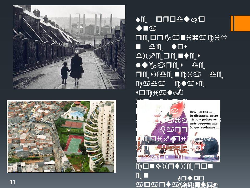 Se produjo una reorganizació n de los diferentes lugares de residencia de cada clase social.
