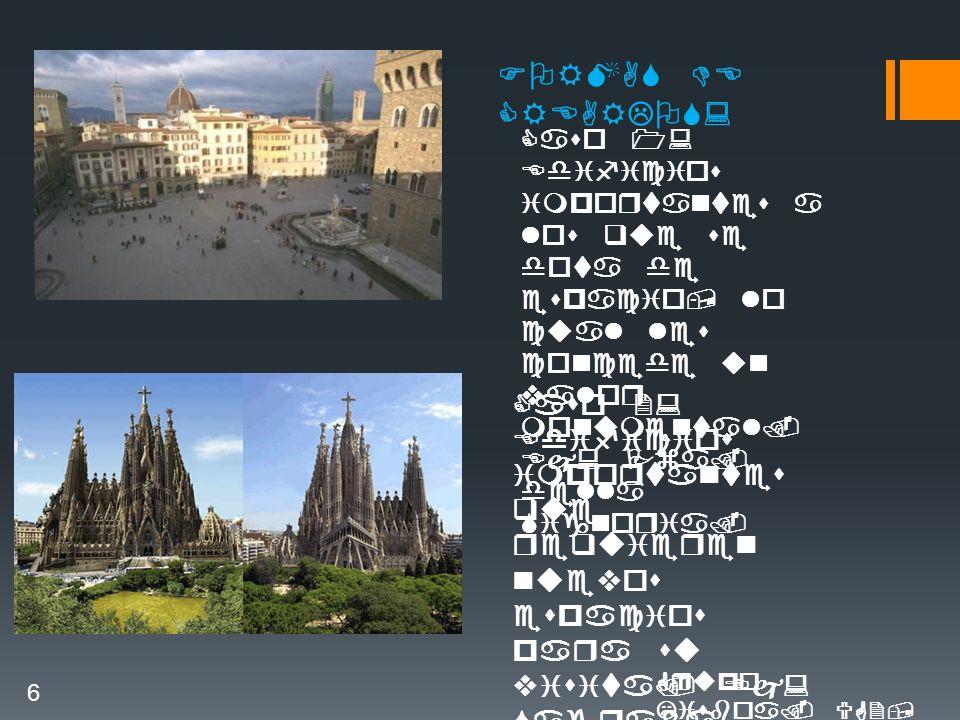 FORMAS DE CREARLOS: Caso 1: Edificios importantes a los que se dota de espacio, lo cual les concede un valor monumental.