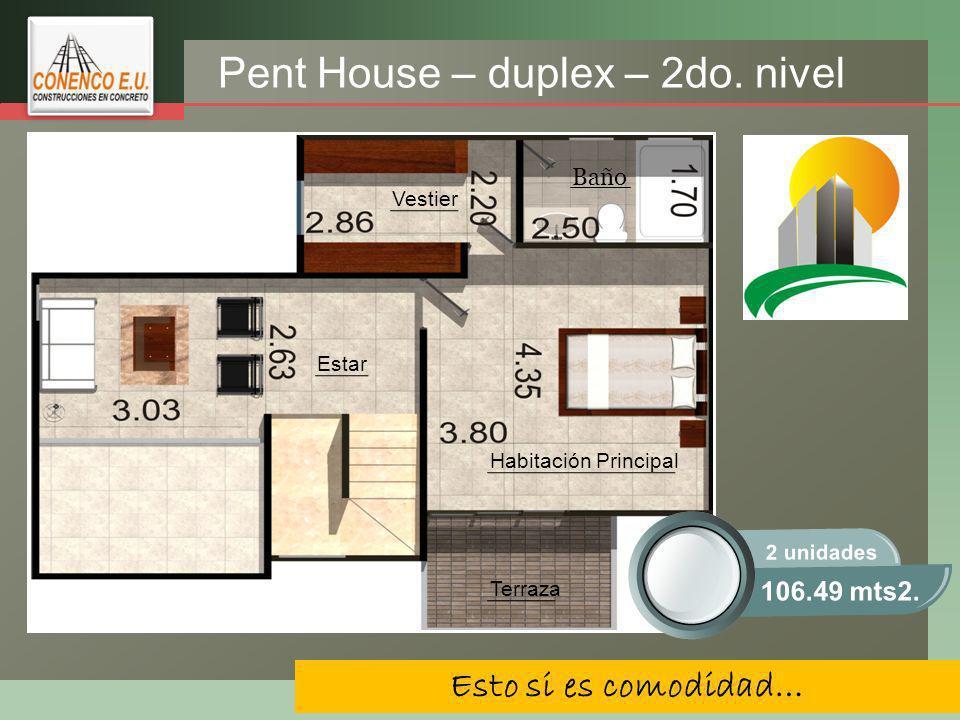 LOGO Esto si es comodidad… Pent House – duplex – 2do.